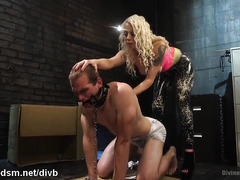 Stud needs to satisfy mistress's lusty demands by being a submissive slave