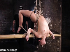 Pretty slave suffers tremendously from master's vicious punishment