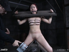 Sweet Asian chick gets her pussy full of nectar from master's punishment