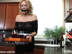 Obedient slave serves her master and mistress with her cunt faithfully
