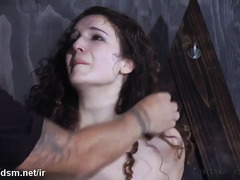 Slave suffered tremendously from relentless beating and wicked pussy stimulation