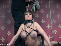 Big tits slave needs to endure relentless punishment for her sexy body