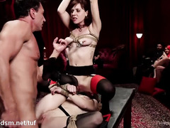 Beautiful sex slaves are hungry and delirious for mind-blowing orgasmic pleasures