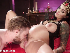 Horny slave is honored to be given a chance to worship pregnant mistress