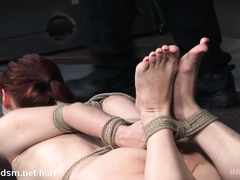 Two hot big tits babes experienced severe deepthroating and fucking punishment