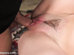 Filthy hot and explicitly wild pussy training punishment for young brunette