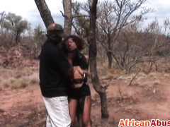 White Guy Spanks And Fucks Two Hot African Girls During Sex Safari