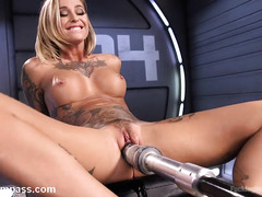 Hot machine fuck First a blond time using