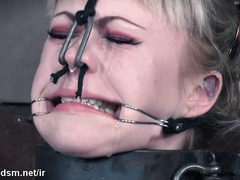 Tough blonde slave cries from master's ruthless and painful punishments