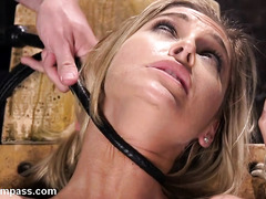 Sexy blonde's lusty bondage encounter with a demanding and tough master