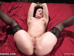 Alluring chick dazzles master with her total submission and tight fuck holes