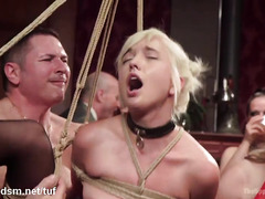 Mind-blowing orgy party with breathtakingly beautiful and horny sex slaves