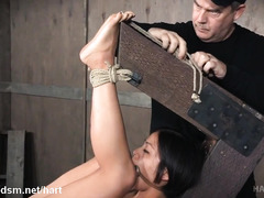 Captivating Asian babe experiences tremendous pain from rough pussy flogging