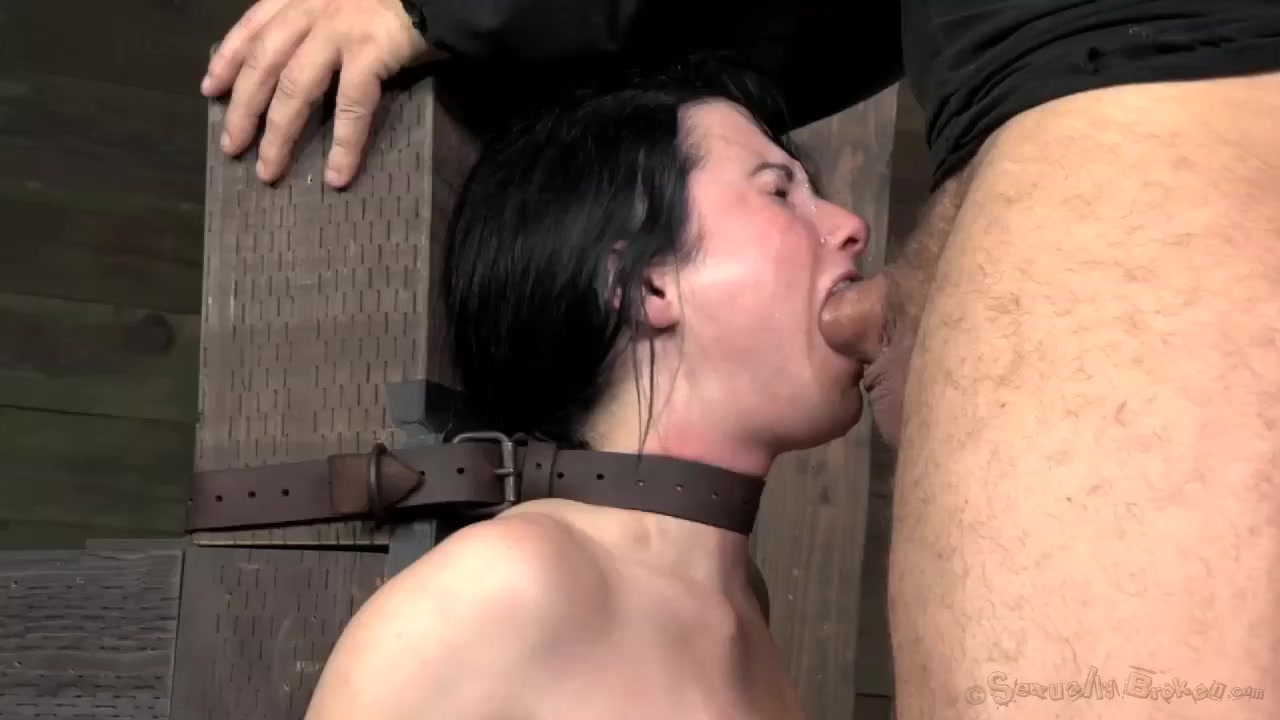 Tormenting Submissive Slave Beauty With Extensive Deepthroating