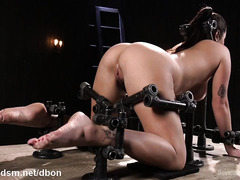 Lovely slave turns into a squirt machine from having excessive fingering