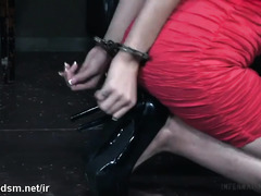 Explosive dildo fucking pleasures for bounded and tormented slave