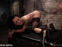 Petite ebony has to pay master through her tight anal tunnel and luscious beaver