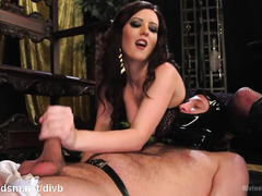 Smashing bitch enjoys her enslaved man's cock in dirty modes