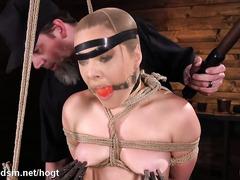 Bitch endures harsh treatment during insane BDSM play