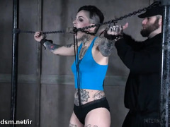 Tattooed bitch endures harsh BDSM play