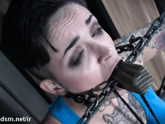Tattooed bitch endures harsh BDSM play