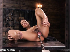 Jaw dropping Kira Noir gets nude and slutty with her new toys
