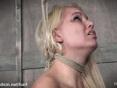Submissive blonde raped in insane BDSM XXX play