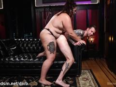 Fat whore enslaves guy during insane anal fetish