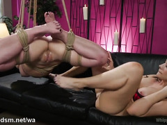 Lesbians are playing harsh in severe BDSM porn video