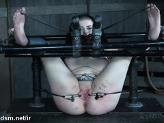 Fat ass emo slut forced to endure heavy BDSM