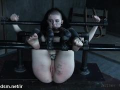 Fat ass emo slut forced to endure heavy BDSM