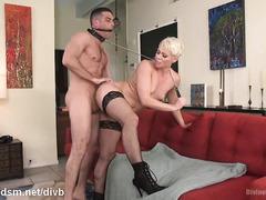 Milf enslaves guy in really harsh femdom home scenes