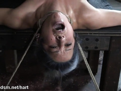 Busty whore in mega wild BDSM bondage play