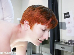 Obedient lesbian whores in a wild anal threesome