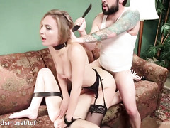 Super heavy anal BDSM in threesome with Mona Joseline