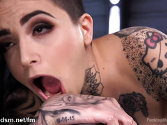 Premium brunette insane toy porn scenes during hot solo