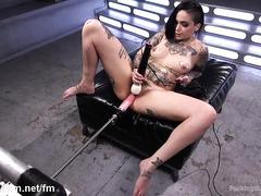 Premium brunette insane toy porn scenes during hot solo