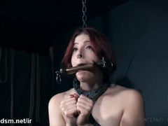 Restrained lady gets hard fucked and spanked on ass