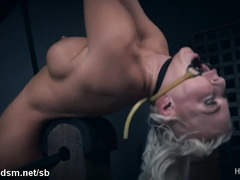 Nude blonde fucked a lot in brutal XXX BDSM play