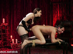 Dominant milf butt fucked obedient slave in brutal BDSM
