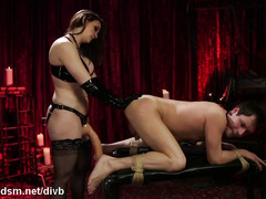 Dominant milf butt fucked obedient slave in brutal BDSM