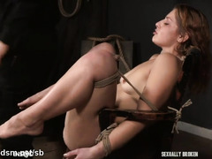 Redhead plays obedient with plenty of dick in her tiny holes