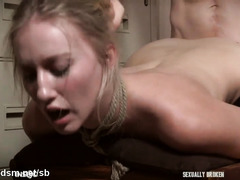Obedient blonde harsh fucked in all possible modes