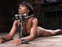 Young ebony harsh fucking in bondage XXX kinky fetish