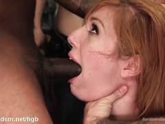 Busty milf gangbanged hard fucked and made to swallow a lot