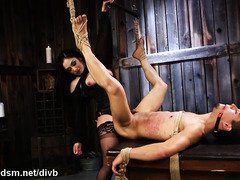 Dominant female rough treatment for her enslaved lover