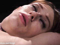 Rough bondage home play for the obedient redhead