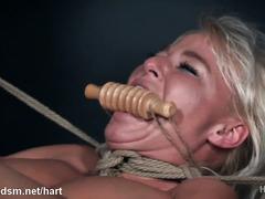 Super hot BDSM bondage with a voluptuous blonde