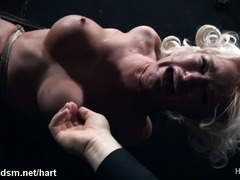 Super hot BDSM bondage with a voluptuous blonde