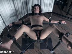 Teen endures a harsh treatment during a really kinky BDSM toy play